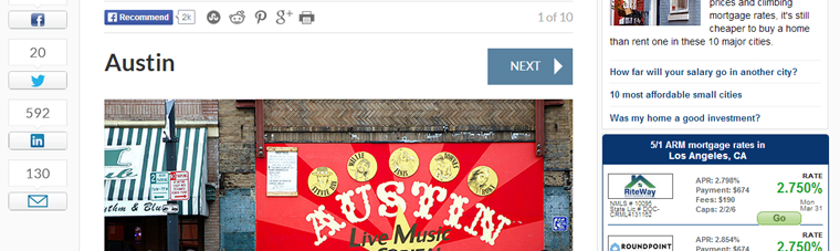 Austin Fastest Growing City in US